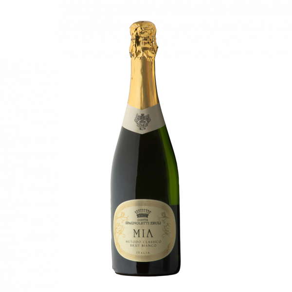 Vino Spumante di Qualità Brut Bianco METODO CLASSICO Chardonnay: 100% Temperatura di servizio: 5-6° C. Alcol svolto: 12,0% vol 750 ml