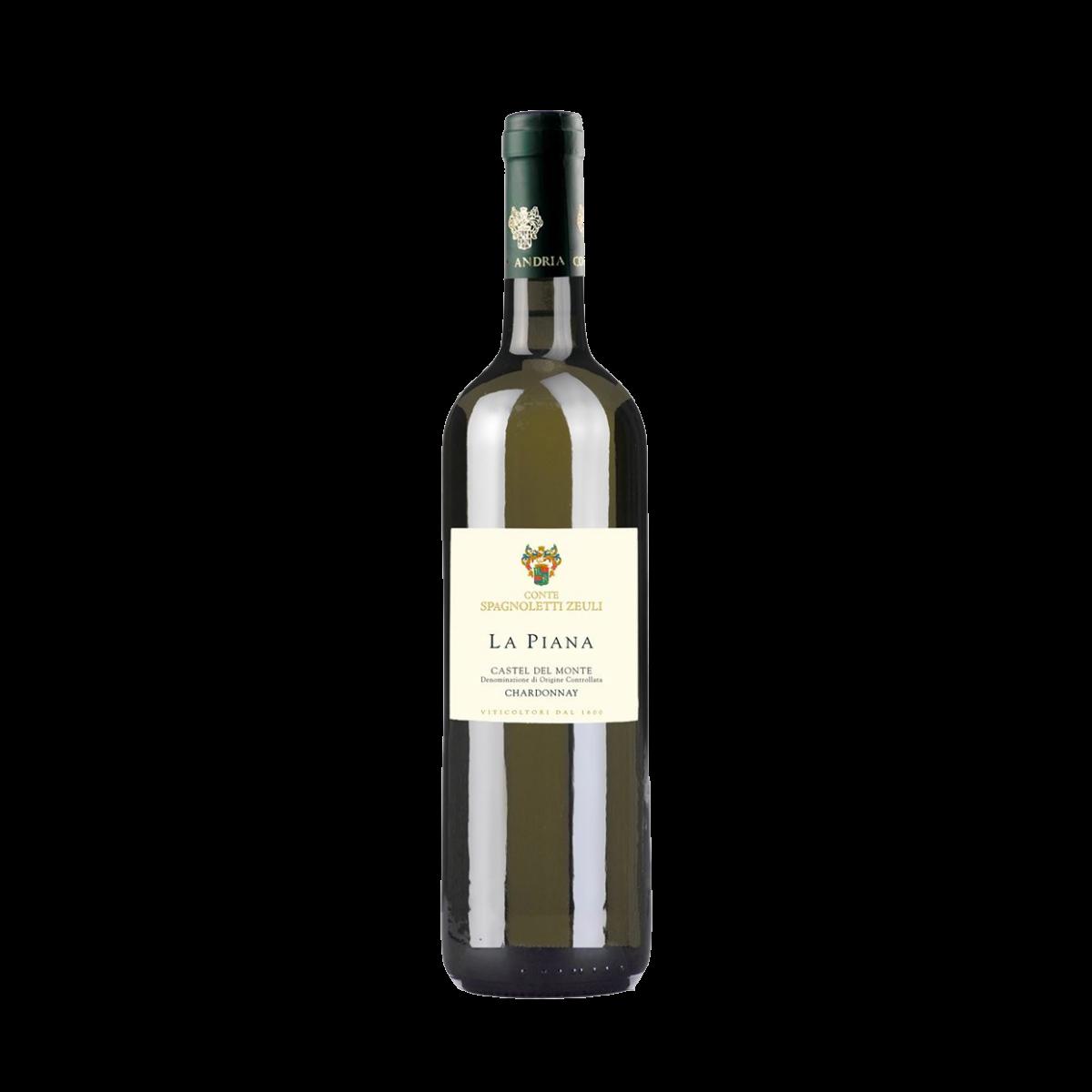 Castel del Monte Bianco 2020 Chardonnay: 100 % Temperatura di servizio: 7-8° C. Alcol svolto: 12% vol